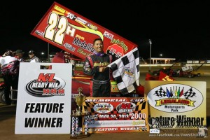 Randy Hanngan in victory lane. - Jennifer Peterson Photo