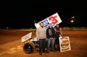Ryan Grubaugh with this crew in victory lane. - Jennifer Peterson Photo