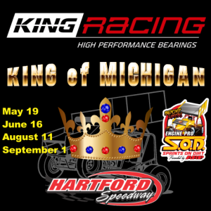 King Engine Bearings King of Michigan announced for SOD at Hartford Speedway