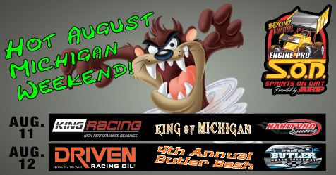 Hot August Michigan Weekend next for SOD at Hartford & Butler