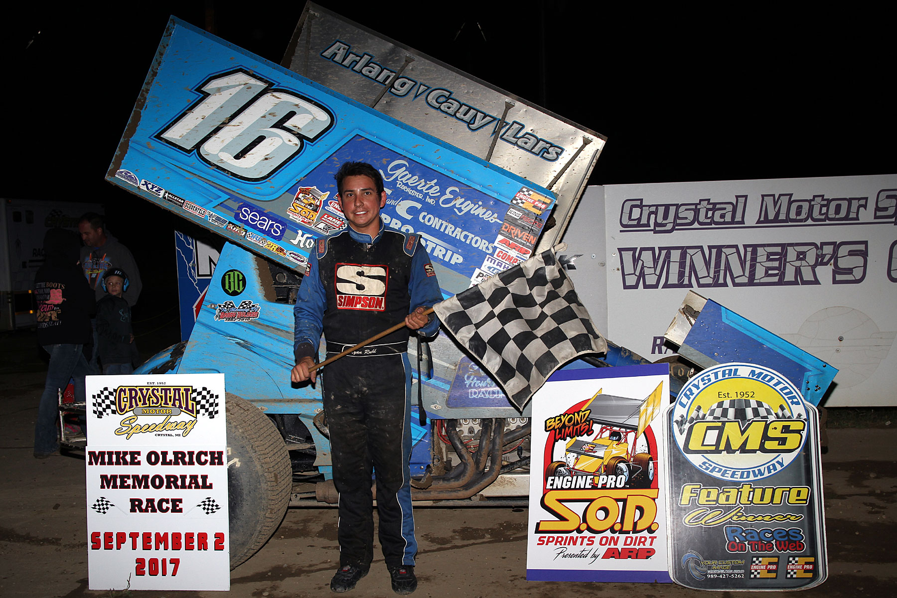 Ryan Ruhl takes his 3rd SOD Mike Olrich Memorial win at Crystal Motor Speedway
