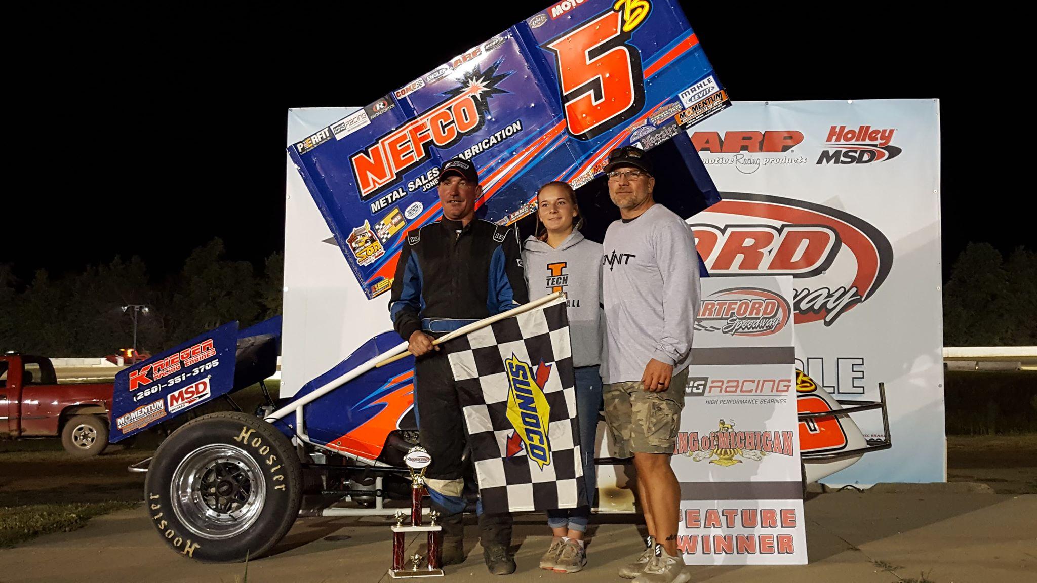 Chad Blonde takes Friday the13th SOD King Engine Bearings KoM win at Hartford