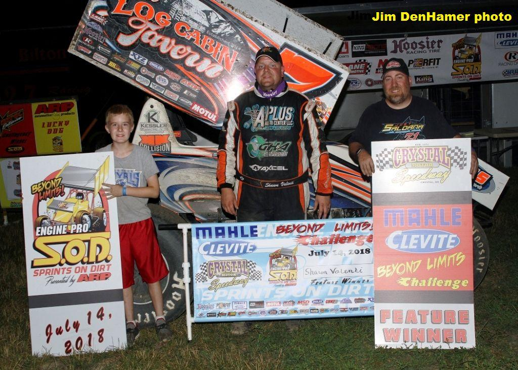 Shawn Valenti powers to SOD MAHLE/Clevite BLC win at Crystal